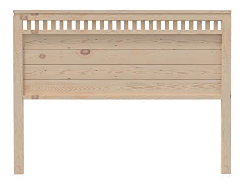 Muebles pejecar cabecero Modelo Bora para Cama de 135 Fabricado en Madera de Pino insigni Maciza Acabado en Crudo sin Pintar