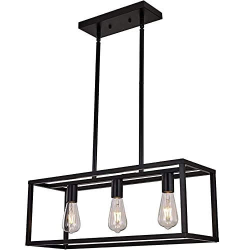 YDZB Luces colgantes Mesas de comedor de hierro modernas Luces colgantes E27 Candelabro LED Sala de estar Dormitorio Restaurante Lámpara Luz de techo de altura ajustable (3 llamas)