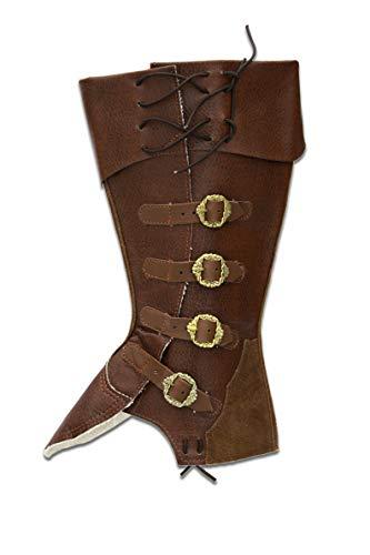 CP-Schuhe Mittelalter Gamaschen Stiefelstulpen (XL, Braun)