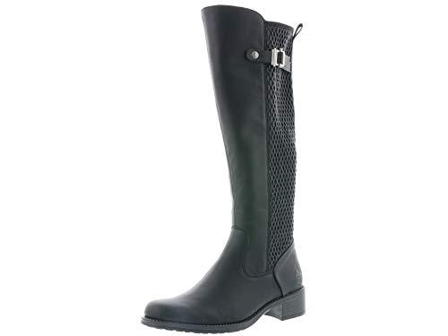 Rieker Damen Stiefel Z7351, Frauen Stiefel, Boots langschaftstiefel gefüttert reißverschluss Damen Frauen Lady,schwarz,42 EU / 8 UK