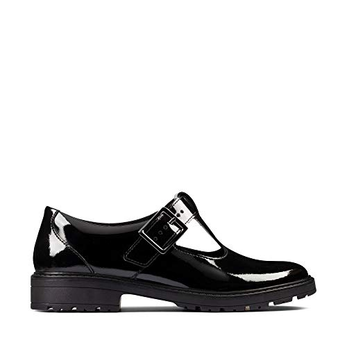 Clarks Loxham Shine Youth Black Patent
