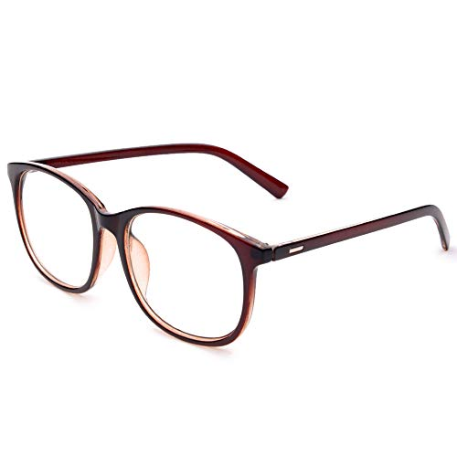 Jcerki Oversize Frame Nearsighted Glasses-2.50 Strength Short Sighted Men and women lightweight Myopia Spectacles