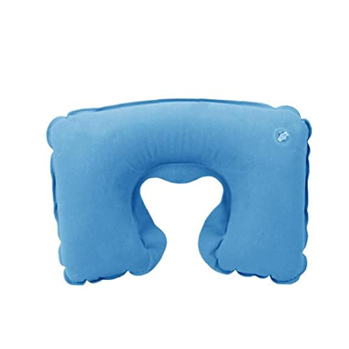 Sistema de Dormir Sistema de Dormir Inflable U Forma con Almohada Ocular con escudete Cara-Escudo Oreja Almohada de Cuello de Aire portátil para Viajar Azul Azul 3 PCS para Lindos Suministros
