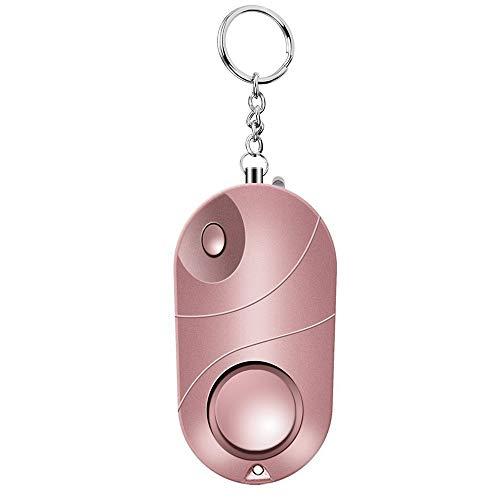 Wenore Persoonlijke alarminstallatie, veilig geluid, noodgevallen, zelfverdediging, veiligheid, alarm, keychain, LED-zaklamp voor vrouwen, meisjes, kinderen, ouderen, Explorer roze