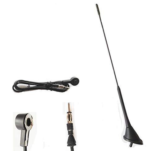 Autoantenne 40cm mit ANTENNENFUSS Kurzstabantenne Radio Antenne Autoantenne Dachantenne Stabantenne Kurzantenne Radioempfang AM/FM. INION