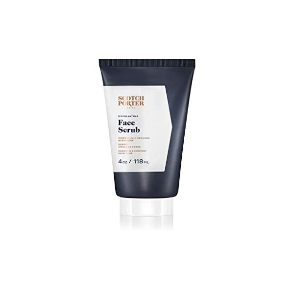 Scotch Porter Exfoliating Face Scrub for Men   Facial Cleanser Unclogs Pores & Evens Out Skin Tone   Formulated with Non… 1
