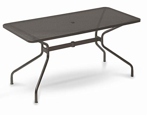 Emu Table pour extérieur Changes 140 x 80 cm en Fer zingué et Verni à poussières – Couleur Fer Ancien Fantaisie 22 – Marque Produit fabriqué en Italie