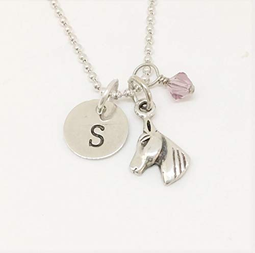 925 Sterling Silver Pendant Charm Horse Pendant Vintage Jewelry  Designer Stamped Shawl Scarf Gift Ideas Necklace NOS