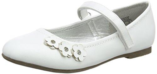 Indigo Mädchen 424 075 Geschlossene Ballerinas, Weiß (White), 36 EU