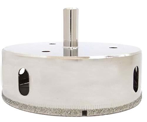 Drilax 3-1/2 inch Diamond Hole Saw Drill Bit Ceramic Porcelain Tile Glass Granite, Quartz Coated Tip Drilling Core 3 1/2 Inches in