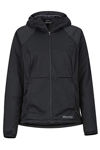 Marmot Wm's Zenyatta Jacket Blanda, Chaqueta para Exteriores, Anorak, Resistente Al Agua, Transpirable, Mujer, Black, XL