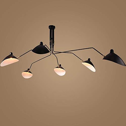 JYDQM Iluminación Accesorio de la lámpara Moderna de la Flor de Lotus Ajustable RAS la lámpara de la luz Pendiente de Montaje en Techo Blanco cálido for Sala de Estar (Size : 6-Head)