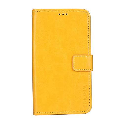 coque G Power 2021 - Funda de piel con tapa para Motorola G Power 2021, color amarillo