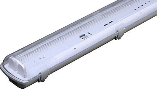 Espled Pantalla estanca para 2 Tubos Led T8 de 60 cm, Gris