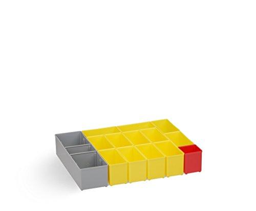 Insetboxenset B3 gelb | Sortimentsbox klein leer | Bosch Sortimo i-BOXX 72 Insetboxenset B3 | Erstklassige Sortierboxen für Kleinteile