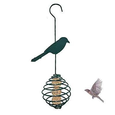 HELEVIA Bird Feeder Hanging Wild Bird Seed Feeder Spiral Bird Feeder Fat Food Dispenser Spiral Food Hanging Basket for Garden Outdoors from HELEVIA