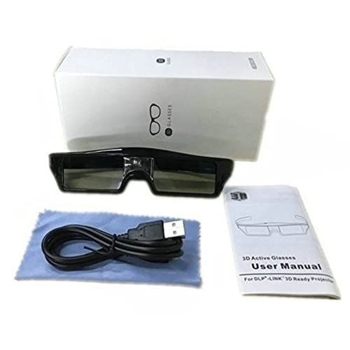 YLWL Gafas 3D inalámbricas Recargables 3D con Obturador Activo, Gafas para proyectores DLP 3D, Gafas universales de TV