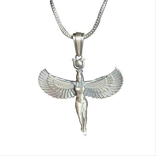 ZGYFJCH Co.,ltd Collar Mujer Diosa Egipcia Antiguo Egipto Dios Alas Figuras Egipcias Collar Gargantilla Corta Collar