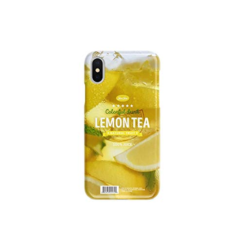 Compatibel met de Iphone 11 Case, Creative Lemon thee perzik thee TPU Iphone 11 PRO Cases Cover for Iphone XR / 11 Pro / 11 Pro Max en vele andere modellen Origineel