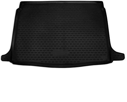 OMAC Tapis de coffre de voiture - Protection de coffre pour Megane 4 2015-2020 - Coupe 3D - Bords hauts - Antidérapant - En caoutchouc - Noir