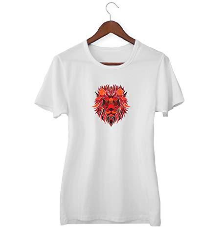 Galatasaray Aslan Leeuw Symbool Animal_KK020382 shirt T-shirt voor vrouwen - wit