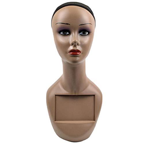 Huante Tête de coiffure professionnelle avec trou pour perruque, chapeau, présentoir de cheveux, lunettes, chapeaux, colliers, chapeaux