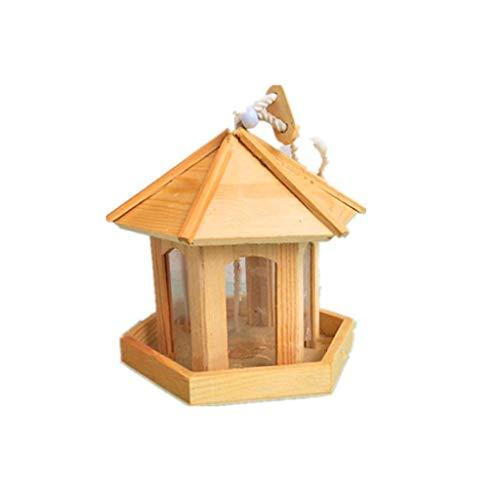JXXDDQ Mangeoire à Oiseaux avec fenêtre, mangeoire à Oiseaux Suspendu pour la Petite décoration de Maison d'oiseau Sauvage
