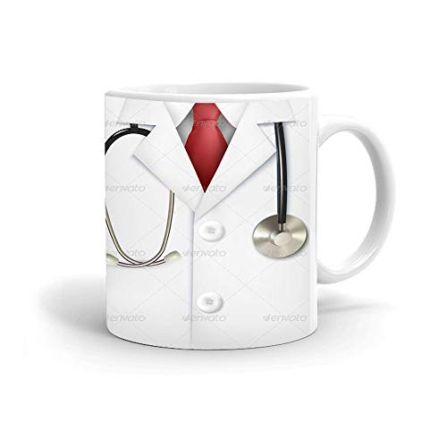 Khakee Doctor Theme Ceramic Coffee Mug (325 ml) - Gift for Doctors,Birthday Mug for Doctor(doctor-065P)