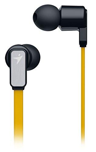 Genius HS-M260 Mobiles Headset Binaural Gelb Verkabelt - Mobile Headsets (Verkabelt, Binaural, Im Ohr, 20-15000 Hz, 95 dB, Gelb)