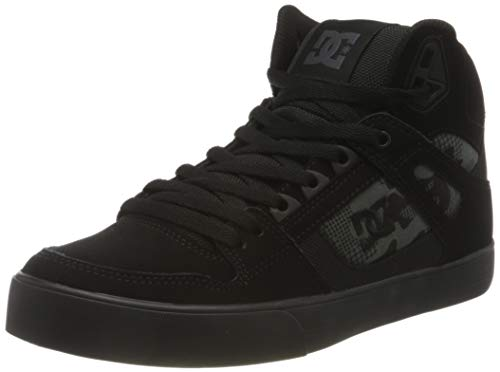 DC Shoes Pure High-Top WC, Zapatillas para Hombre, Black/Camo, 46 EU