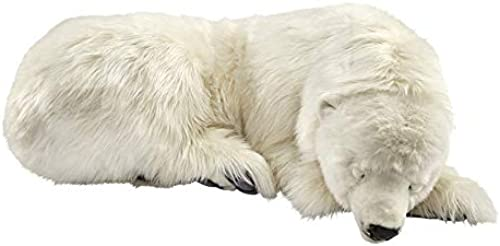 Anima - Peluche Ours polaire dormeur 105 cm