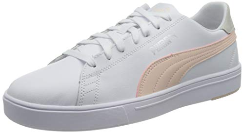 PUMA Unisex Serve Pro Lite Sneaker, Weiß Cloud Pink Silber, 36 EU