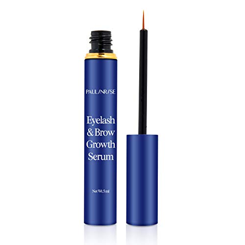 PAULINRISE Natural Eyelash Growth Serum and Brow Enhancer to Grow Thicker, Longer Lashes for Long, Luscious Lashes and Eyebrows[5ml]