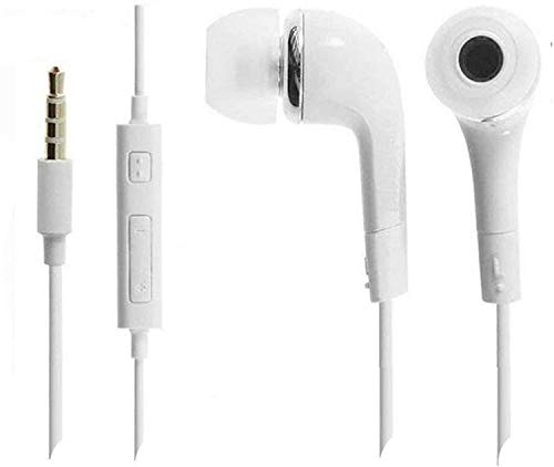 GSM Dumanhill® in Earphones Compatible with Samsung YR High bass Earphones with Ultra Bass & Dolby Sound 3.5mm Jack for All Samsung vivo Oppo mi redmi realme/Anroid/iOS Devices - (White)