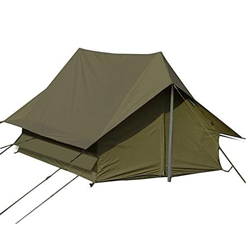 DSGTR acampar al aire libre retro tienda 2-persona autoconducción excursión camping a prueba de lluvia tipo una línea tienda Oxford tela