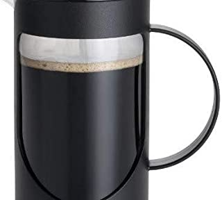 BonJour Coffee Unbreakable Plastic French Press, 33.8-Ounce, Ami-Matin, Black