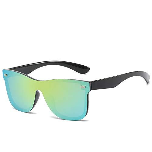 CNBKMG Brand Design Fashion Sunglasses For Women Men Square Frame Sun Glasses Uv400 Sunglass Shades-Green