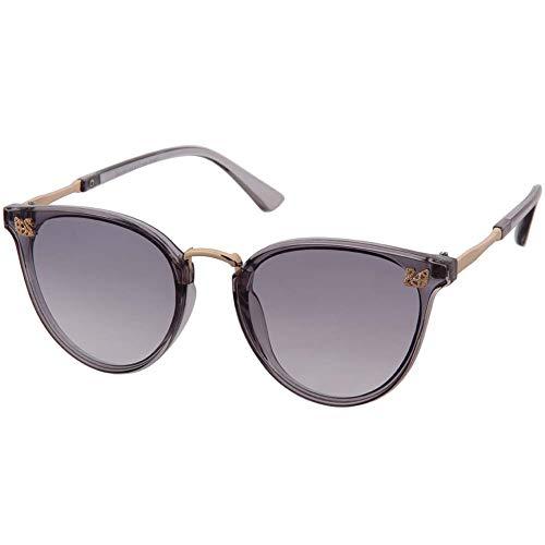 OGOBVCK OGOBVCK cat eye sonnenbrille klassische vintage schattierungen überdimensionalen designer große ultra thin 100% uv schutz für frauen und mädchen (LightGrey)