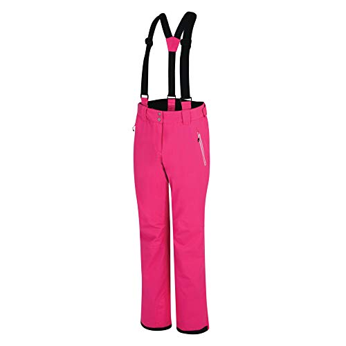 Dare 2b Effused Pant Waterproof & Breathable Articulated Comfort Knee Ski & Snowboard Salopette Trousers with High Backed Waist and Integrated Snow Gaiters Pantalones de esquí, Mujer