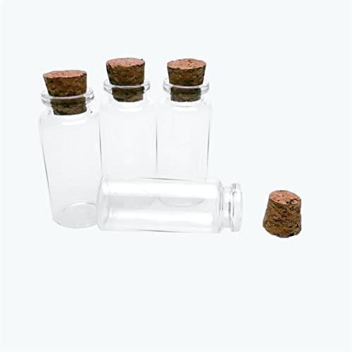 BAWAQAF Bottiglie di vetro,Bottiglia di vetro trasparente da 30ml,Bottiglia di derivazione di vaniglia,Bottiglia di desiderio di amore di anniversario