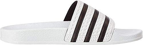adidas Unisex-Erwachsene Originals ADILETTE Bade Sandalen - Weiß (WHITE/CBLACK/WHITE),EU 38