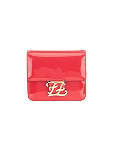 Fendi - Bolso al hombro de 100% Piel para mujer Rojo rosso talla única