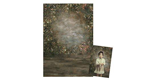 WaW 2 x 2,9 m Fotowwand Lienzo Vintage Abstracto Grunge Wall Fondo Floral para Boda Retrato Fotografía Video