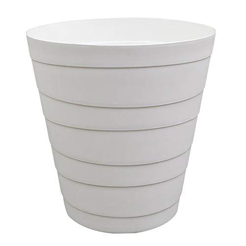 Fenteer Cesta Plástica De La Basura del Cubo De Basura del Cubo De Basura del Cubo De Basura del Cubo De Basura De La Raya Blanca