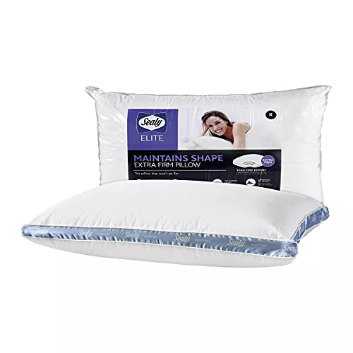 Sealy Elite Extra Firm Bed Pillow Won't Go Flat Standard Queen...