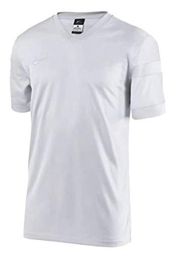 Nike Mens Trophy II Short Sleeve Soccer Jersey White/White Black Size Medium