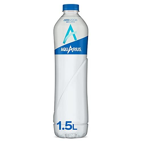 Aquarius Zero Azúcar Limón - Bebida funcional con sales minerales, sin azúcar - botella 1,5L