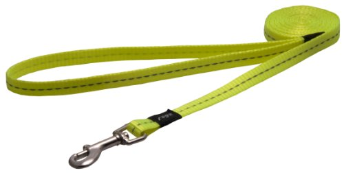 Rogz Utility kleine 3/8 inch reflecterende Nitelife funkybuys lange vaste hondenriem, 3/8