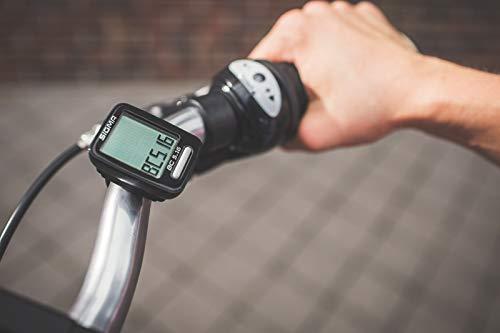 Sigma Sport Fahrrad Computer BC 5.16, 5 Funktionen, Geschwindigkeit, Kabelgebundener Fahrradtacho, Schwarz - 6