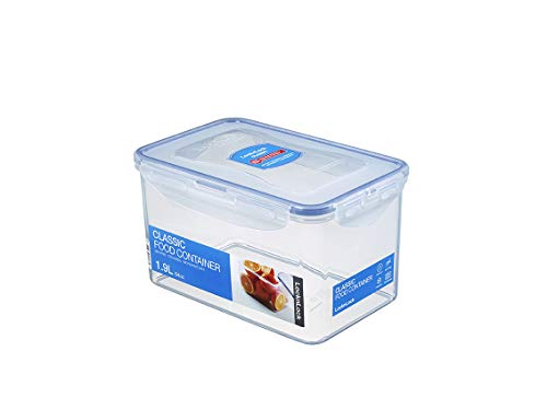 LOCK & LOCK Easy Essentials Food Lids/Pantry Storage/Airtight Containers, BPA Free, Rectangle - 8 Cup - for Cookies, Clear